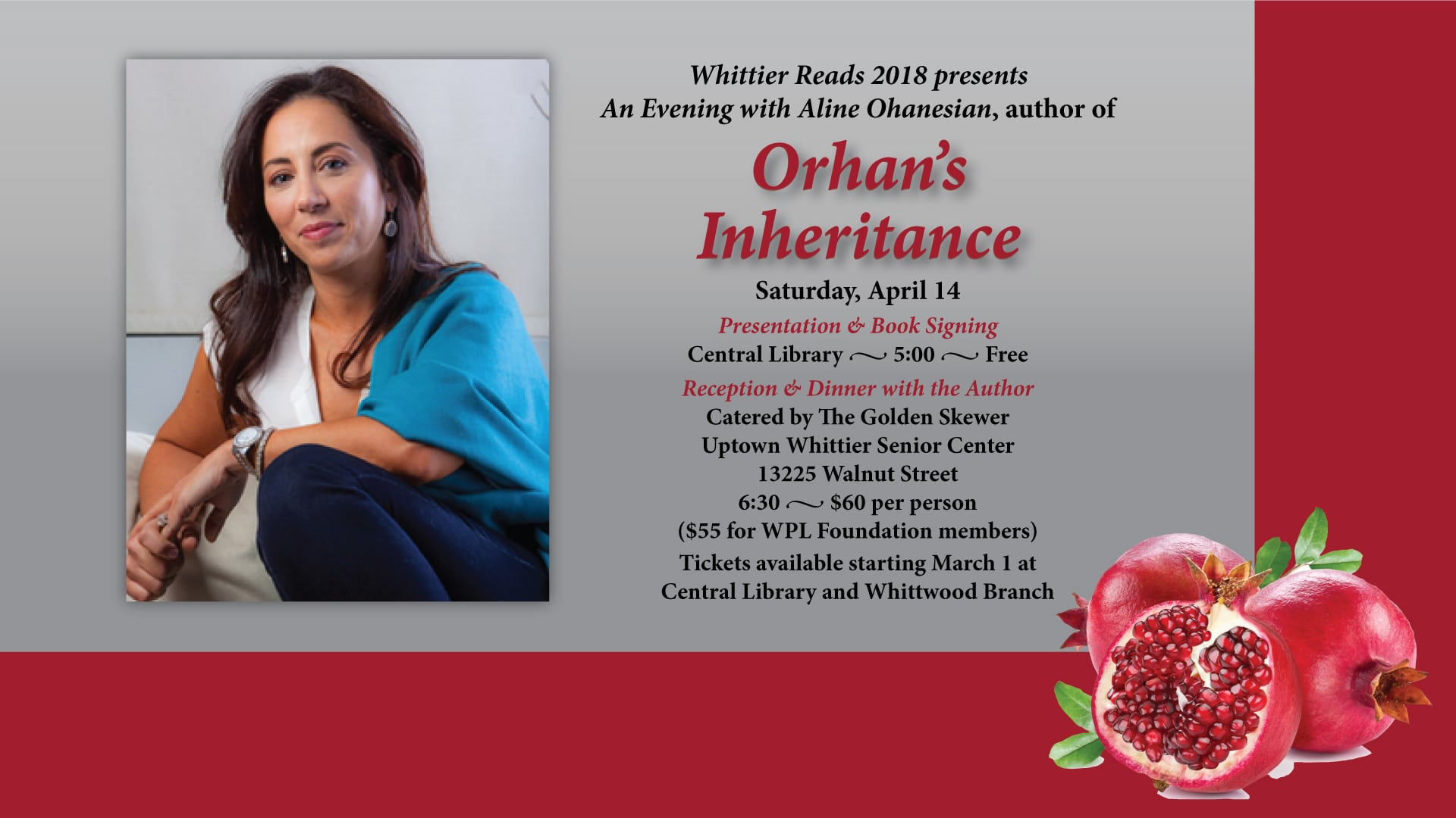 Whittier Reads Author Evening